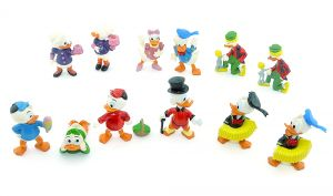 Satz Donalds flotte Familie mit Varianten - 12 Figuren (Komplettsätze)