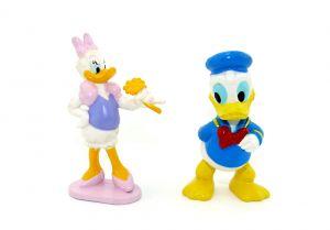 Daisy und Donald Duck Figuren als Paar. Größe der Figuren 6,5 cm