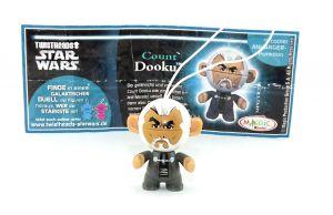 Count Dooku aus der Serie Star Wars - Twistheads mit Zettel