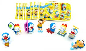 Figurensatz Doraemon mit allen Beipackzetteln zur Serie (Sätze Europa)
