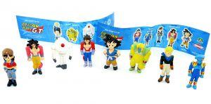 DRAGON BALL GT Figurensatz. Alle 8 Figuren der Serie und der Beipackzettel dazu [von Dolci Preziosi]