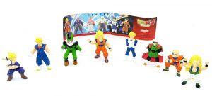 Dragon Ball Z Figuren Set. Alle 8 Figuren der 1 SERIE von der Firma Dolci Preziosi mit Zettel