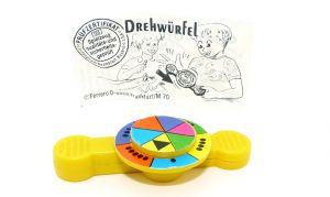 Drehwürfel Spiel mit Beipackzettel von Ferrero 1993