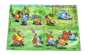 Super Puzzle der Dribbel Boys. Alle 4 Ecken je 15 Puzzleteile von 1990 ohne BPZ