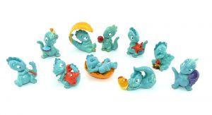 Drolly Dinos 1993 alle 10 Figuren (Komplettsätze)