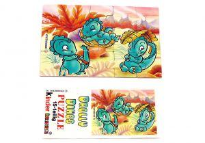 Drolly Dinos Puzzleecke oben links mit Beipackzettel (15 Teile Puzzle)