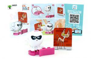 GIDGET Figur von Pets 2 mit Beipackzettel (DV523)