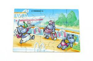 Puzzleecke von Happy Hippo Traumschiff mit Beipackzettel oben rechts