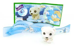 Eisbärbaby - Natoons Polarkinder Figuren (Einzelfigur mit Zettel und Rückwand)