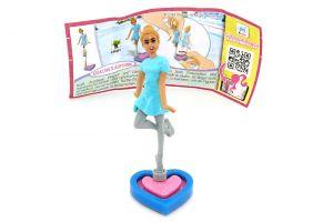 EISKUNSTLÄUFERIN mit Zettel EN381 (Die Barbie Traumberufe)