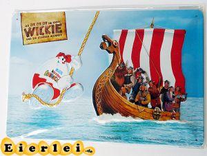 Retro-Blechschild vom Film Wickie und die starken Männer- Schiff