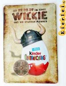 Retro-Blechschild vom Film Wickie und die starken Männer (Ü-Ei)