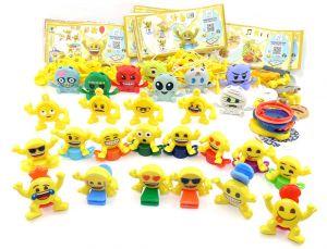 Komplettsatz Emoji EMOJOY alle 48 TEILE mit allen Beipackzetteln aus dem Kinder Joy Ei 2018