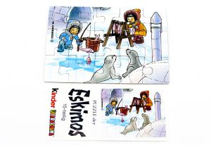 Eskimo Puzzleecke unten links mit Beipackzetteln von 1994