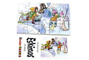 Eskimo Puzzleecke unten rechts mit Beipackzzteln von 1994