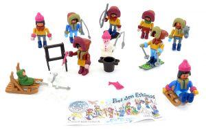 """Steckfiguren Satz von """"Bei den Eskimos"""" von 1994 mit 1 Beipackzettel"""
