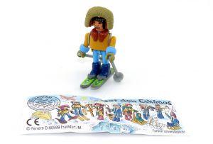 """Schneewanderer als Steckfigur aus dem Satz """"Bei den Eskimos"""" von 1994 mit Beipackzettel"""