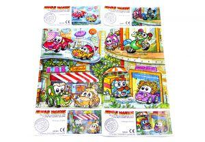 Familie Vollgas, alle 4 Puzzle - Ecken der Serie und vier Beipackzettel (Superpuzzle)