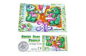Die Dapsy Dino Family Puzzleecke unten Links mit Beipackzettel (15 Teile Puzzle)