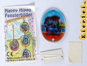Fensterbild von Nico Neureich und Susi Sonnenschein (Happy Hippo