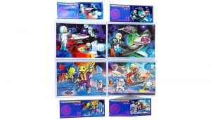 Ferrerospace Weltraum, alle 4 Puzzle mit allen BPZ (Superpuzzle)