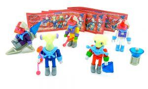Ferrerospace Expedition Crew von 1997. 5er Figurensatz mit 5 Beipackzetteln