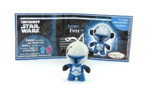 Jango Fett aus der Serie Star Wars - Twistheads mit Zettel