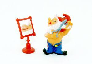 Figaro mit Spiegel auf Sockel (Badezimmerzwerge)