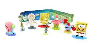 8 Spongebob Figuren von Dolci Preziosi COLLECTION 2009 Plus allen Beipackzetteln