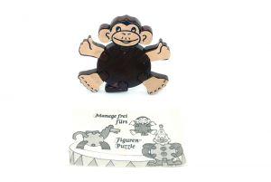 Steck Affe mit Beipackzettel (Alte Ü-Ei Inhalte)