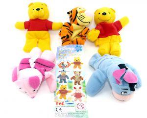 Disney Winnie the Pooh Finger Puppets Part 1. Alle 5 Fingerfiguren der Serie mit Beipackzettel