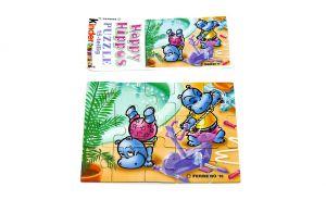 Puzzleecke der Happy Hippo im Fitness Fieber. Ecke unten links mit Beipackzettel