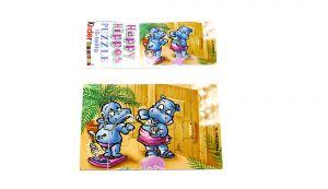 Puzzleecke der Happy Hippo Fitness oben rechts mit Beipackzettel