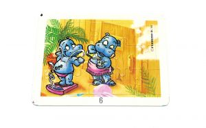 Happy Hippo Fitness Puzzle noch im Stanzrahmen (15 Teile Puzzel)