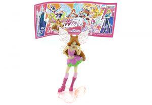 Flora von den WinX Club Figuren 2012 mit Beipackzettel