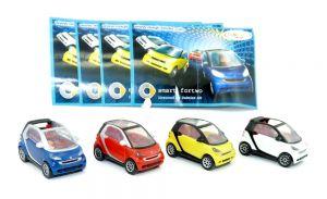 1 Satz smart Modelle in 4 Farben 2007 mit allen Beipackzetteln