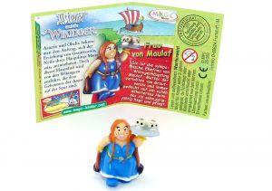 Frau von Maulaf mit deutschen Beipackzettel (Asterix und die Wikinger)
