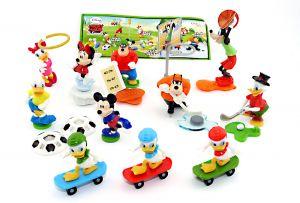 ALLE 11 Figuren von Micky Maus der Serie und ein deutscher Beipackzettel