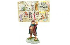 Frodo Beutlin der Hobbit mit Beipackzettel. Der Herr der Ringe Die Gefährten