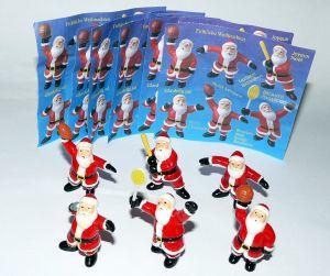 6 Weihnachtsmänner von der Firma ONKEN mit Beipackzetteln