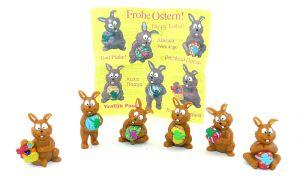 6 frohe Osterhasen von Onken mit einem Beipackzettel