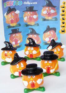 Sechs Halloween Kürbisfiguren und BPZ (Firma Onken)