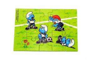 Puzzlecke unten links von den Fußballschlümpfen (15 Teile - Puzzle)
