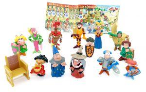 """Alle 13 Funny Castle Figuren mit 13 Beipackzettel. Mtoo """"Das Königliche Turnier"""""""