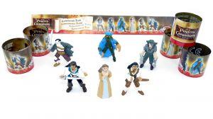 Figuren aus dem Film Fluch der Karibik - Piraten mit 6 Beipackzetteln [Firma Dolci Preziosi]