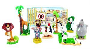 MADAGASCAR 2 Figurensatz mit allen Beipackzetteln (Sätze Europa)