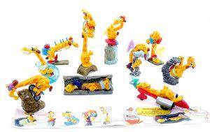 Alle 10 Figuren der Super Giraffen und den entsprechenden Zubehör