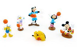 6 Gummie Figuren von Goofy und seine Freunde beim Basketball