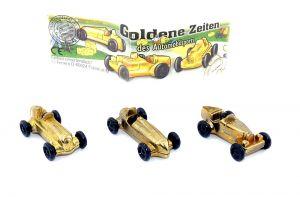 Satz Goldene Zeiten mit BPZ - Rennwagen (Metallfiguren)
