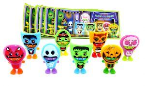 Ü-Ei Halloween Masked Buddies Figurensatz von 2020. 2 Masken leuchten im Dunkeln
